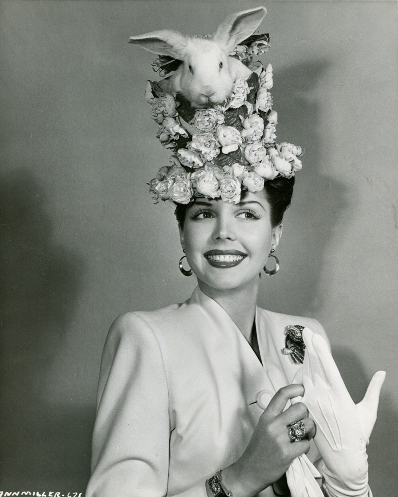 Ann Miller with bunny