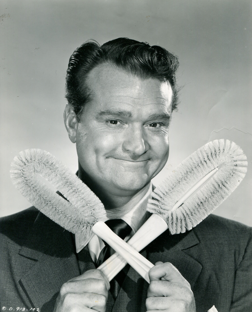 "Red Skelton portrait from ""the Fuller Brush Man"" by Ned Scott"