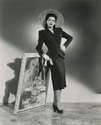 "Ann Miller poses for her role in Henry Levin's biographic comedy, ""The Petty Girl, 1950.  Ann ultimately did not take the key role in this film.  After this photo was taken in 1948, Joan Caulfield took the role."