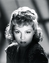 A sultry glance is caught in this portrait of Claire Trevor for her role as the Outcast Girl in John Ford's Stagecoach, 1939