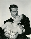 Dorothy Lamour and Don Ameche play Mary O'Leary and John Gayle in Columbia Studios' 1949 romantic comedy 'Slightly French'.