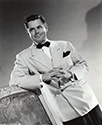 Portrait of Glenn Ford as suave, devious gambler Johnny Farrell in Gilda, 1946