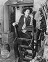 "George Bancroft appears in an offset photograph as the tough minded sheriff ""Curly"" in Director John Ford's epic Western drama, Stagecoach, 1939."