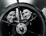 Janet Blair and Al Drake share a nautical pose in Tars and Spars, 1946