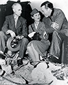 Bob Hope, Ernie Pyle and a lady member of the British Army Reserve Corps  share a few thoughts on the set of The Story of G.I.  Joe.  Bob Hope played himself in his role as a radio voice for the film.