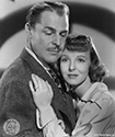 "Brian Donlevy and Anna Lee, key actors in Arnold Pressburger's wartime drama, ""Hangmen Also Die"", 1943.  Donlevy plays the role of Dr. Franticek Svoboda, a medical doctor in good standing in Prague and Anna Lee plays the role of Masha Novotny, daughter of Professor Novotny.  It is revealed during the film that the Professor and the Doctor are key men of the Czeck resistance during the Nazi occupation of WWII.  Director Fritz Lang's film noir drama, ""Hangmen Also Die"", 1943."