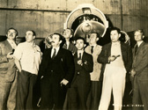 From Left to Right:  Ernest Fiene, Luis Quintanilla, Thomas Benton, George Biddle, Raphael Sawyer, Georges Schreiber,  Robert Philipp, James Chapin.