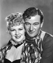 John Wayne and Clair Trevor