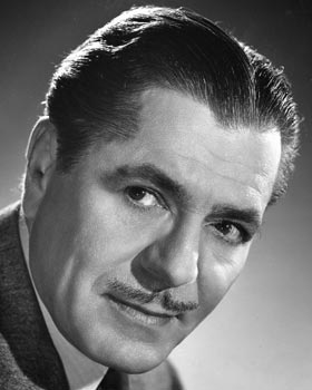 Warner Baxter portrait by Ned Scott